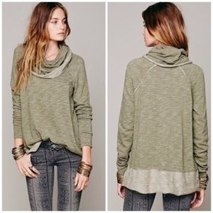 Free People Beach Cacoon Cowl Neck Sweater
